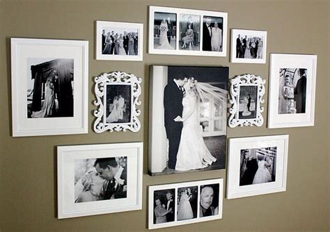 home wall display wedding photo wall display home pinterest wedding