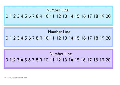free printable number line 0 to 20 number line 0 20 free teaching resources harriet violet