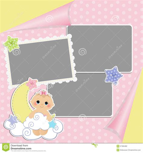 Cute Template For Baby S Card Stock Photography Image 27365482 Baby S Card Template