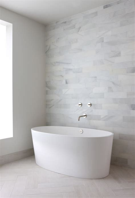 Modern White Tile Bathroom by Modern Bathroom The Gray Tiles Would Be Great With