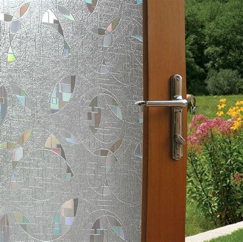 Etched Glass Decorative Window Film Vinyl Static Cling Decorative Privacy Door Glass Cling