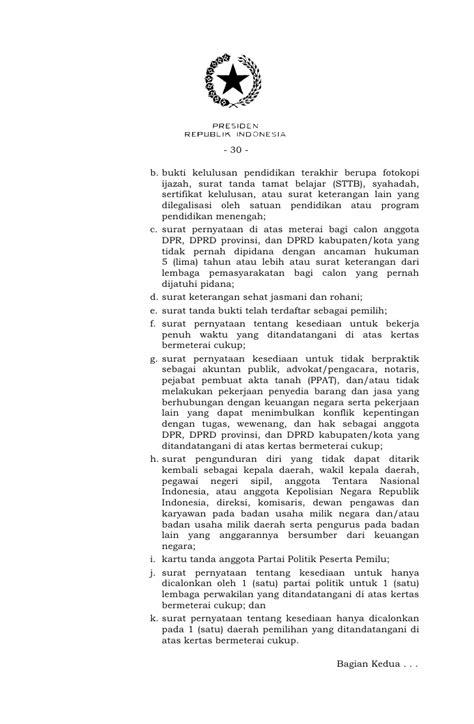uu nomor 8 tahun 2012 tentang pemilu legislatif dan dpd
