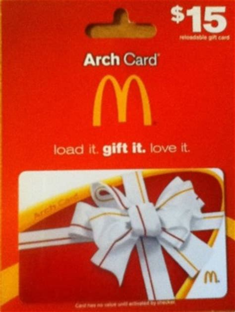 Mc Donalds Gift Card - free quot are you hungry yet wow look quot 15 mcdonald s arch reloadable gift card quot free