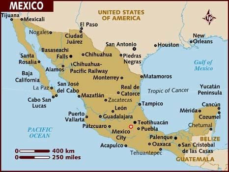 map of mexico showing cities map of mexico