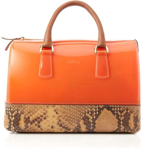 Jelly Bag Orange furla snake mix jelly bag in orange lyst