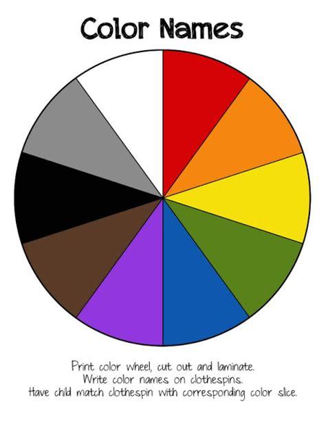 printable color wheel s kreations preschool printables color names wheel