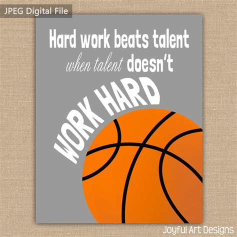 Printable Basketball Quotes | motivating basketball quote printable signs sports decor