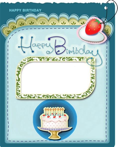 Birthday Card Frames Free Photo Frames Happy Birthday Greeting Card With Cake And