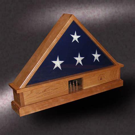 american  wood flag display boxes
