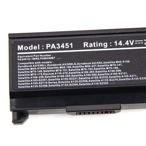 Jual Toshiba Satellite A135 S2386 battery for toshiba satellite a135 s2386 pa3465u 1brs