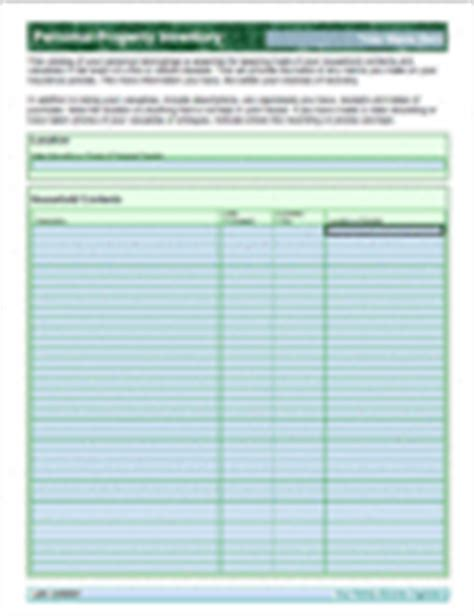 Personal Property Record Your Family Records Organizer Version