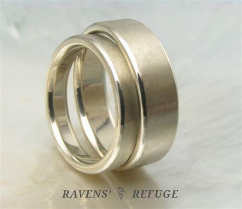 Wedding Bands Handmade by Handmade White Gold Wedding Bands Simple Wedding Rings