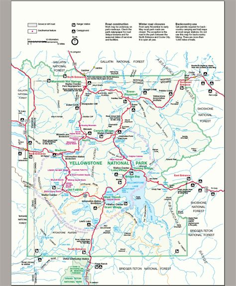 map of yellowstone park file map yellowstone national park jpg