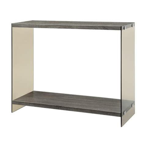 Gray Console Table Coaster Glass Side Console Table In Gray 701969