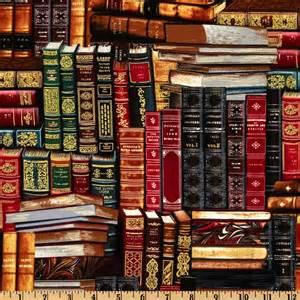 timeless treasures packed books multi discount designer