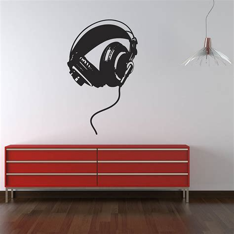 wall uk stickers headphones wall stickers by parkins interiors notonthehighstreet