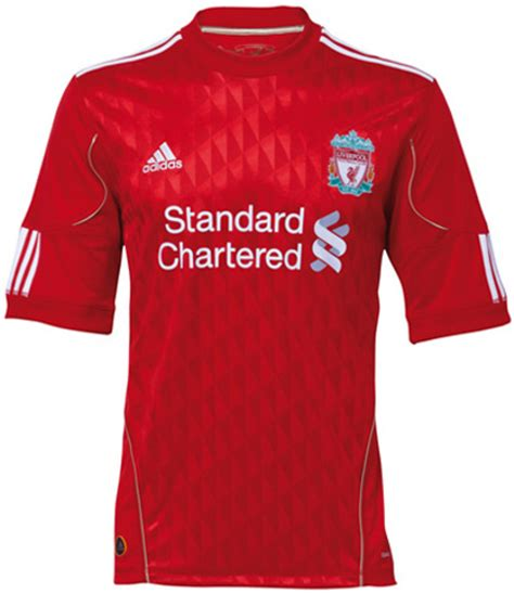 liverpool kit new liverpool kit liverpool fc shirt uksoccershop new liverpool home kit 2010 2011 just football