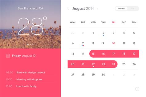 material design calendar ui psd event calendar widget ui design free psd download