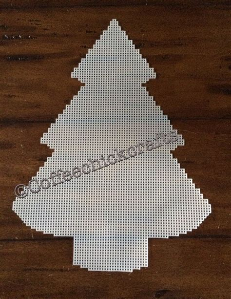 large christmas tree plastic canvas cut out plastic canvas