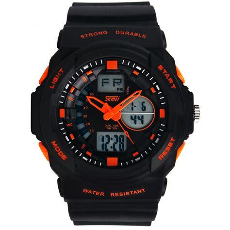 Jam Tangan Skmei Analog Digital Pria Ad1204 Termurah skmei jam tangan analog digital pria ad0955 orange jakartanotebook
