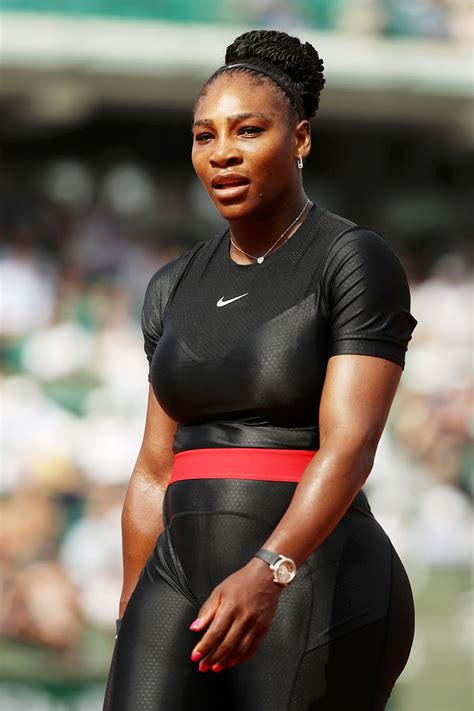 Serena Williams Of The United Statesmpetes During Her