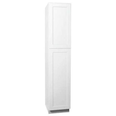 hton bay 18x90x24 in shaker pantry cabinet in satin