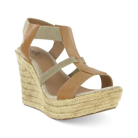 brown wedge sandals deseree platform wedge sandals in brown lyst