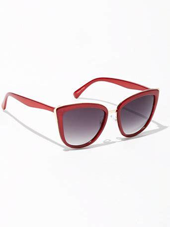 ny c goldtone accent cat eye sunglasses