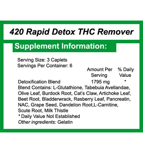 420 Rapid Detox Plus by Thc Detox 420 Rapid Detox 48 Hours To Cleanse Thc
