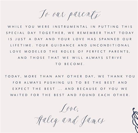 thank you letter to parents on wedding day wedding