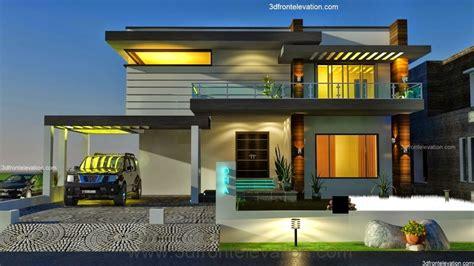 front elevationcom   kanal dha karachi modern contemporary house design  swimming