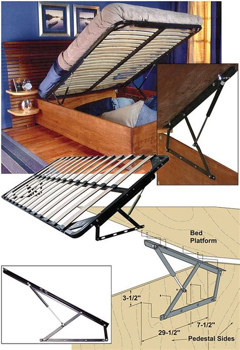 lifting bed frame woodworker storage bed frame and lift kits with