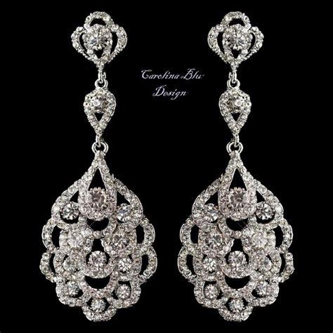 Art Deco Chandelier Earrings Bridal Earrings Antique Deco Chandelier Earrings