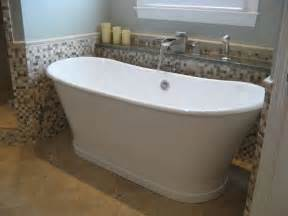 this free standing soaker tub fills in style with our