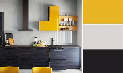Superb Rideau Cuisine Moderne Jaune  #5: 07962893-photo-cuisine-noire-et-jaune-ikea.jpg