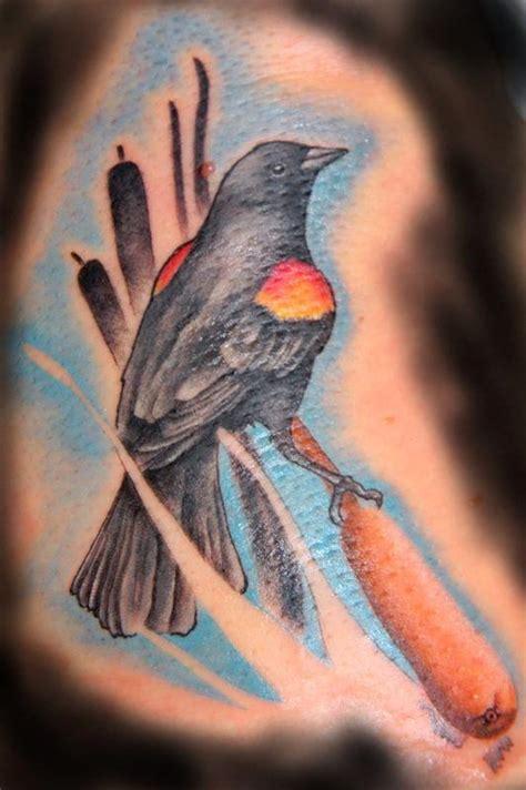 red winged black bird tattoo by galen luker tattoonow