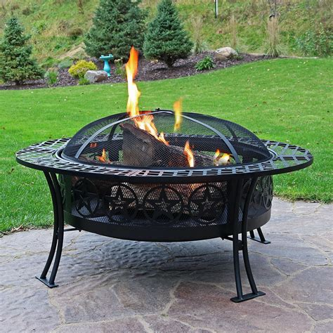 Large Steel Fire Pit Bowl - large bowl fire pit durable steel patio garden camping choose style ebay