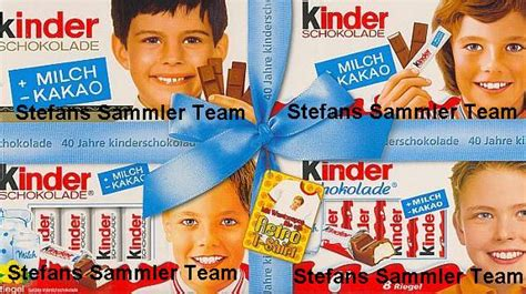 tafel kinderschokolade unser sammler team