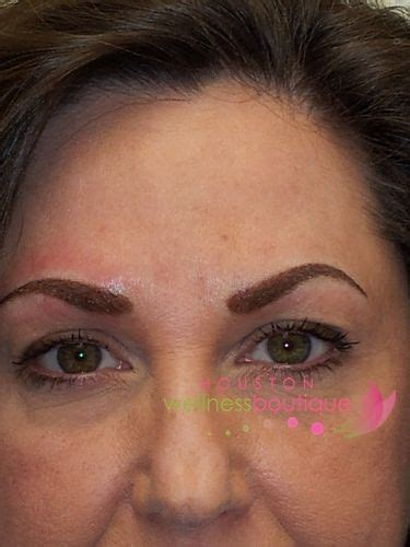 eyebrow tattoo houston after hairstroke permanent cosmetic eyebrows by