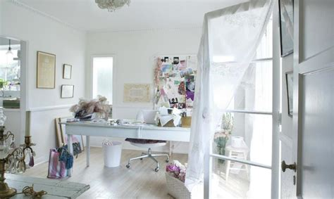 shabby chic office inspiration lovely spaces pinterest