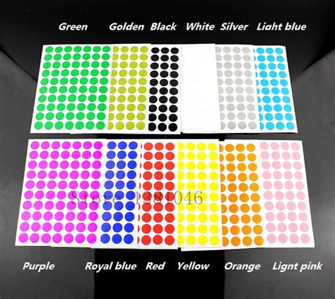 Stiker Sticker Scavalier Colour 12 Cm 12 sheets pack 10mm circle color coded adhesive label dot sticker in office adhesive