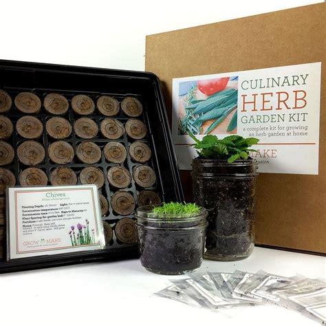 Herb Garden Starter Kit by Diy Culinary Herb Garden Starter Kit Gardens Grow Your