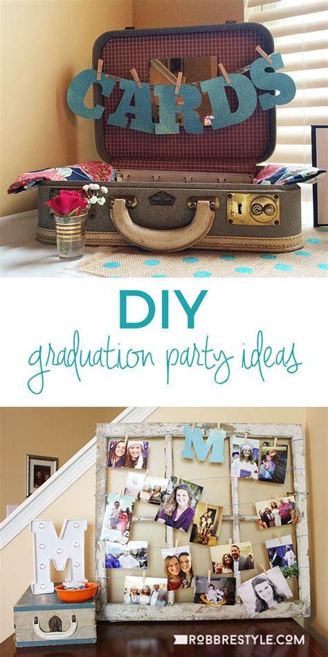 theme exles party graduation party ideas diy graduation party ideas robb restyle