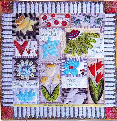 quilt pattern books in my garden pieced applique wall quilt pattern book