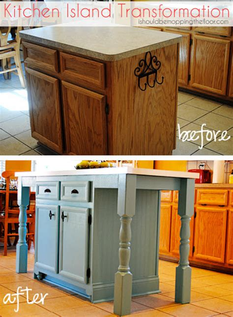 I Should Be Mopping The Floor Kitchen Island Transformation Diy Kitchen Island With Seating