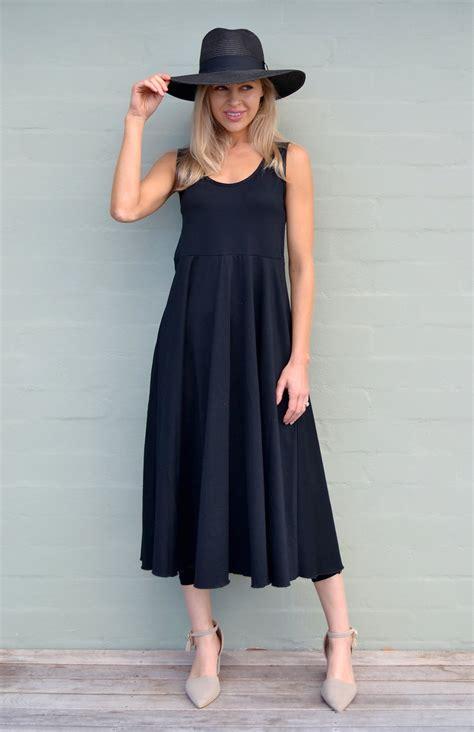 Tasmania Dress fan dress s black wool sleeveless dress
