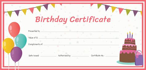 Birthday Card Gift Certificate Template free birthday gift certificate template in adobe