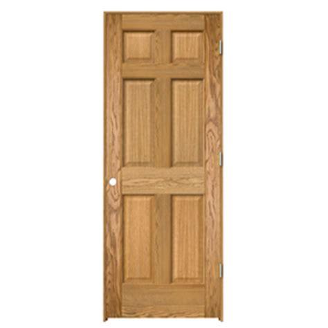 Shop Reliabilt 6 Panel Solid Shop Reliabilt Prehung Solid 6 Panel Oak Interior Door Common 30 In X 80 In Actual 31