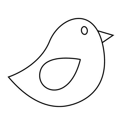 line drawing templates bird line clipart best