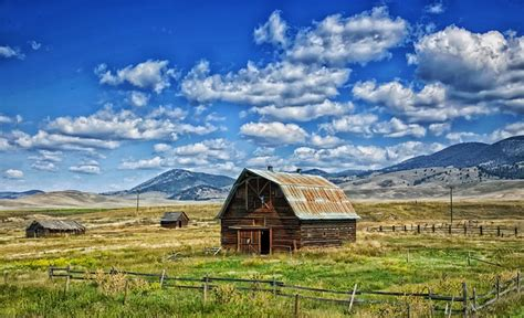 Free Photo Montana Barn Landscape Scenic Free Image The Barn Landscape
